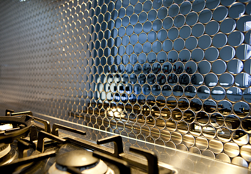 Dollar Stainless Steel Splashback Wall Tiles Bathroom