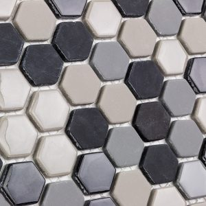 Recycled Glass mosaic Tile great for bathrooms and kitchen splashbacks