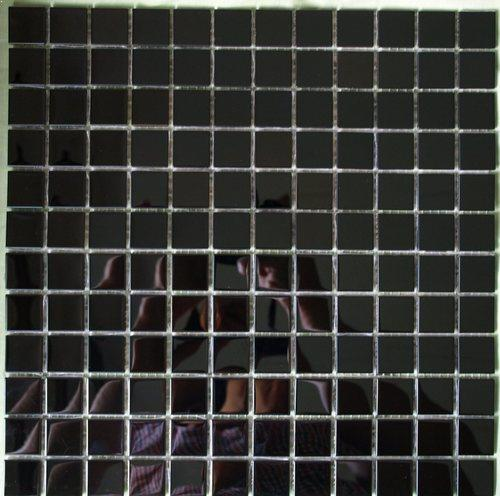 black stainless steel mosaic tile