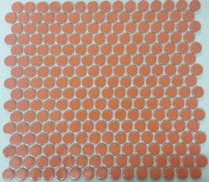 Gloss Orange Pennys is a round Mosaic Tiles