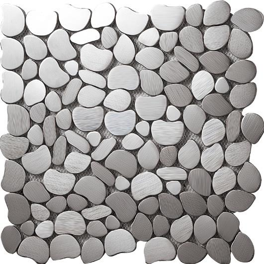 These stainless steel tiles are made from 304 grade stainless steel.