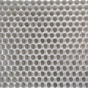 Metallic Silver Penny Porcelain Mosaic Wall Tile Bathroom Kitchen