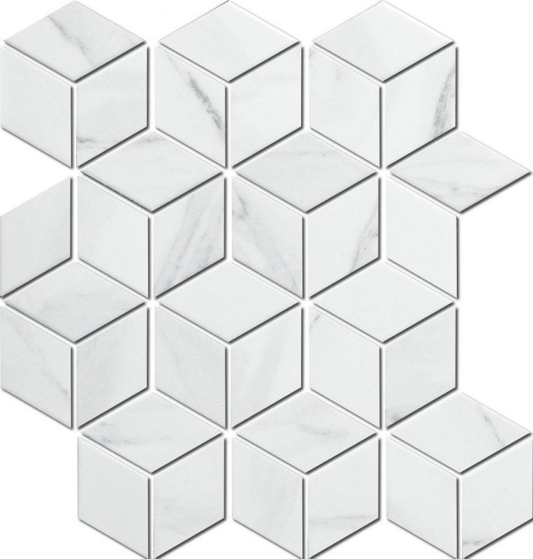 Porcelain Cube Mosaic Tiles For Kitchens And Bathrooms