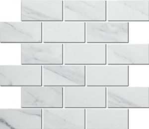 A beautiful subway tile made from porcelain. Can be used in bathrooms and kitchens.