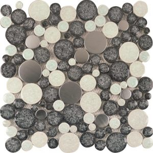 A round stainless steel tile perfect for any splashback.