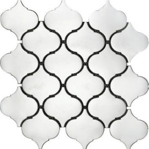 Lantern stainless steel metal tile perfect for feature walls.