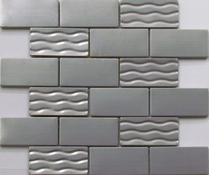 Metal stainless steel subway tile