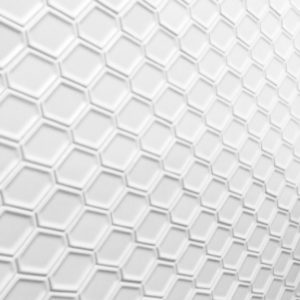 White Matte Internal Glazed Porcelain Honeycomb Mosaic Tiles.
