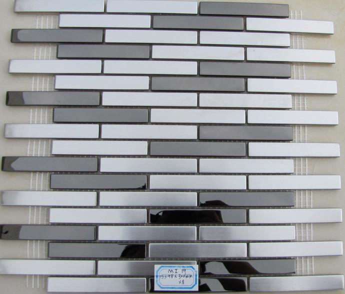 Perfect mosaic stainless steel tile