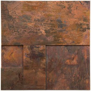 A copper wall tile used for both residential and commercial.