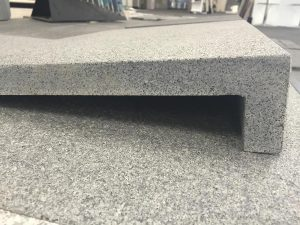 Granite tile for commercial and residential outdoor applications.