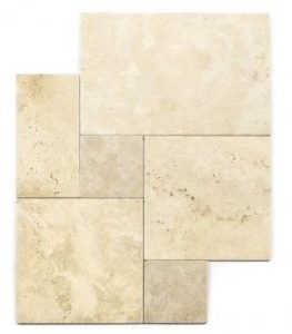 Stone French Pattern travertine wall and floor tile