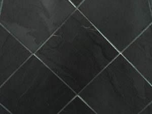 Beautiful slate tile in colour black
