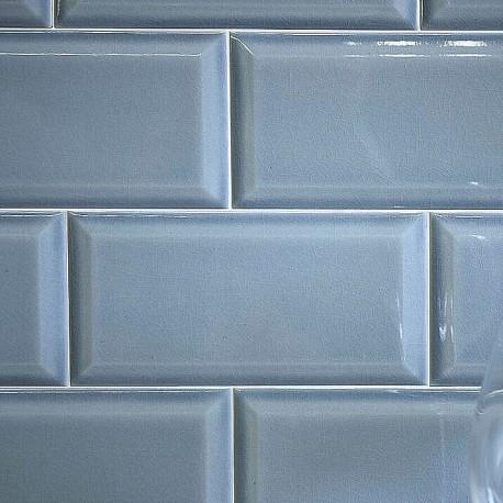 Spanish Splashback Tile Craquele Marine Gloss Bevelled