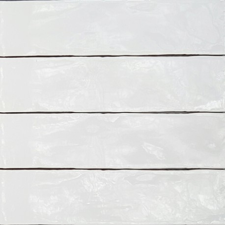 Spanish Splashback Tile Handmade Super White Gloss Subway