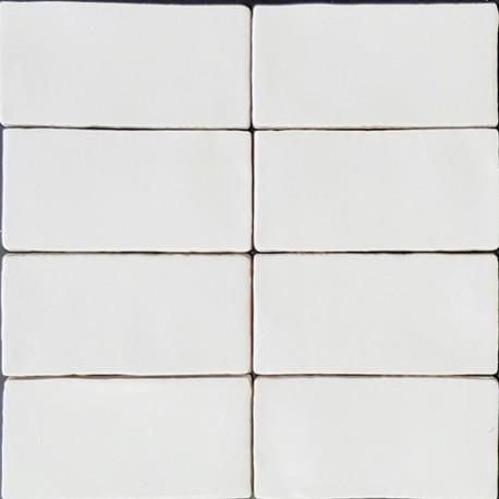 Spanish Splashback Tile Handmade Super White Matt Subway